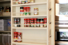 Pantry Door Spice Rack  8 Pretty Pantry Door Ideas That Showcase Your Storeroom as a Star Pantry Door Spice Rack 270x180