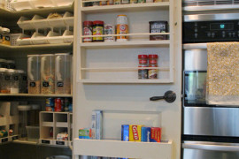 Pantry Door with Spice Rack  8 Pretty Pantry Door Ideas That Showcase Your Storeroom as a Star Pantry Door with Spice Rack 270x180