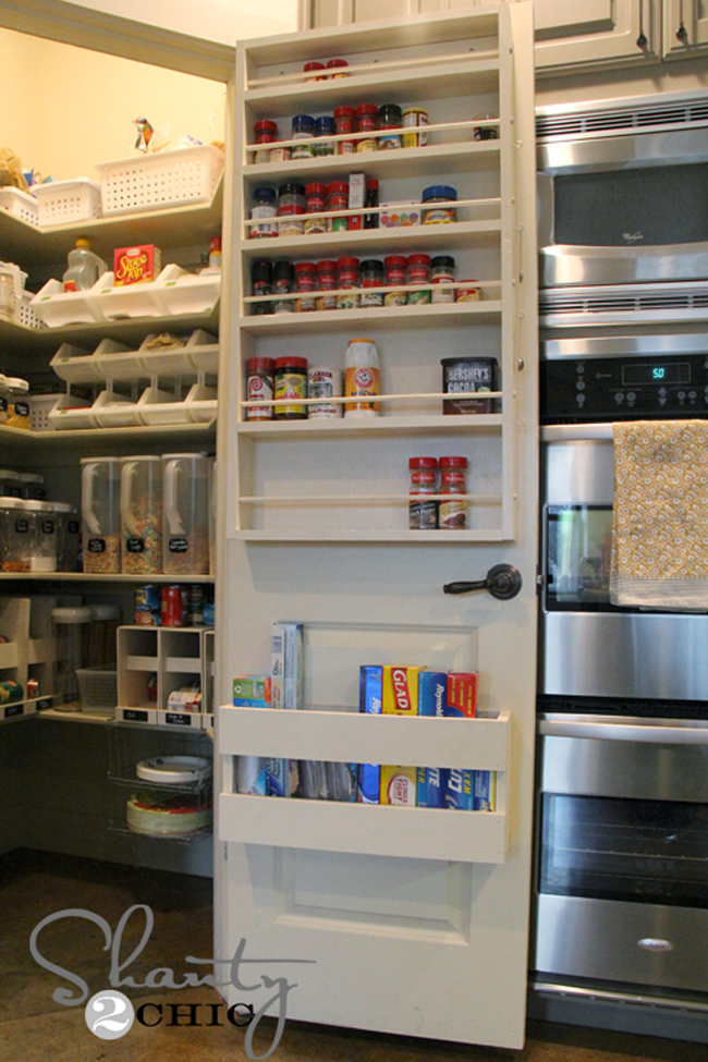 Pantry Door with Spice Rack