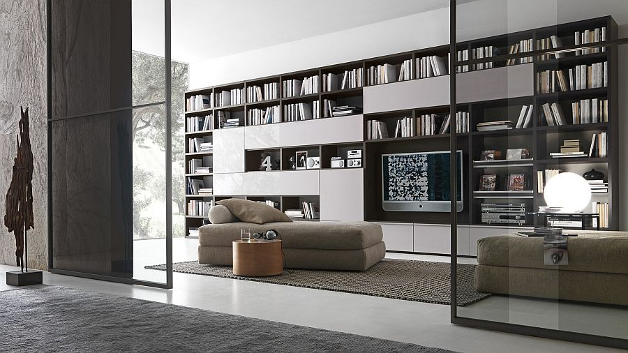 Pari&Dispari Bookcase system by Presotto