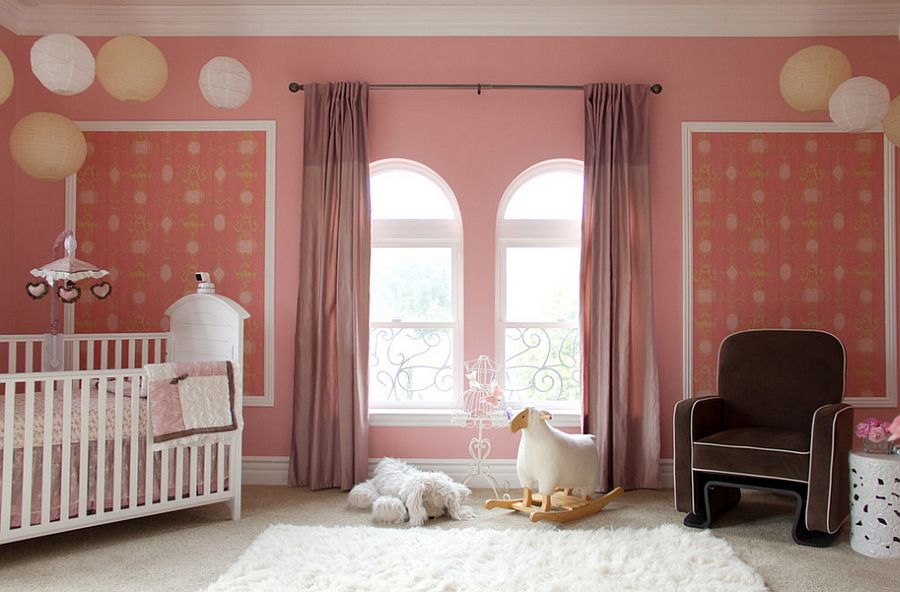 Playful nursery design with plenty of pink [Design: A.S.D. Interiors - Shirry Dolgin]