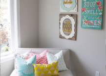Plush Seat with Colorful Decor Accents