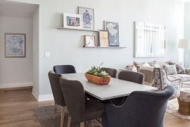 Plush dining table chairs bring elegance to the space