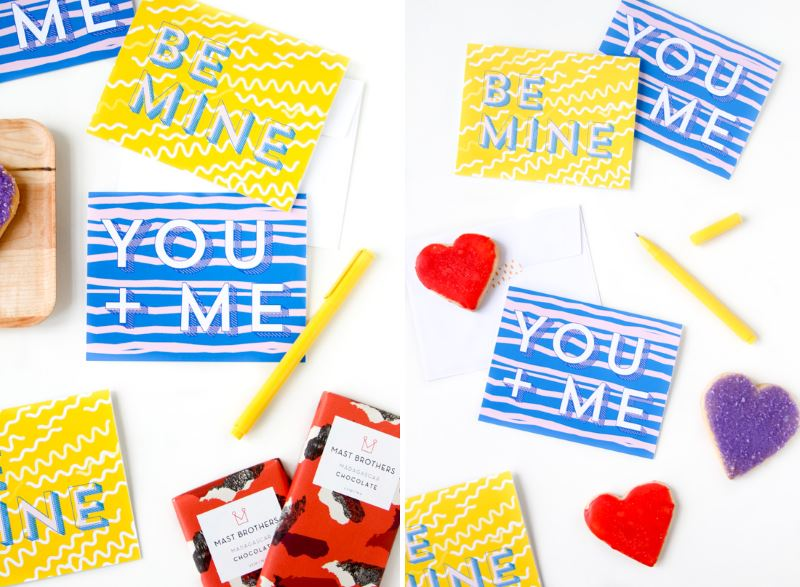 Printable valentines from Paper & Stitch