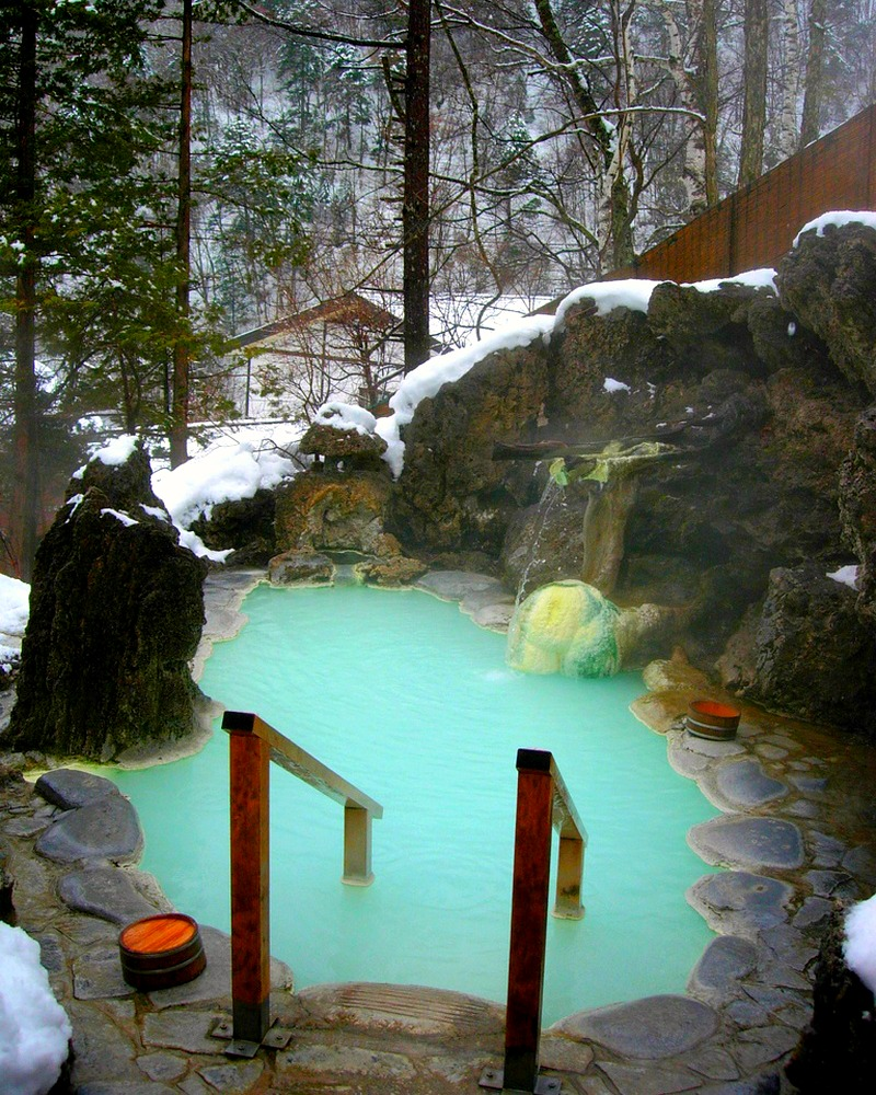 A very private hot tub