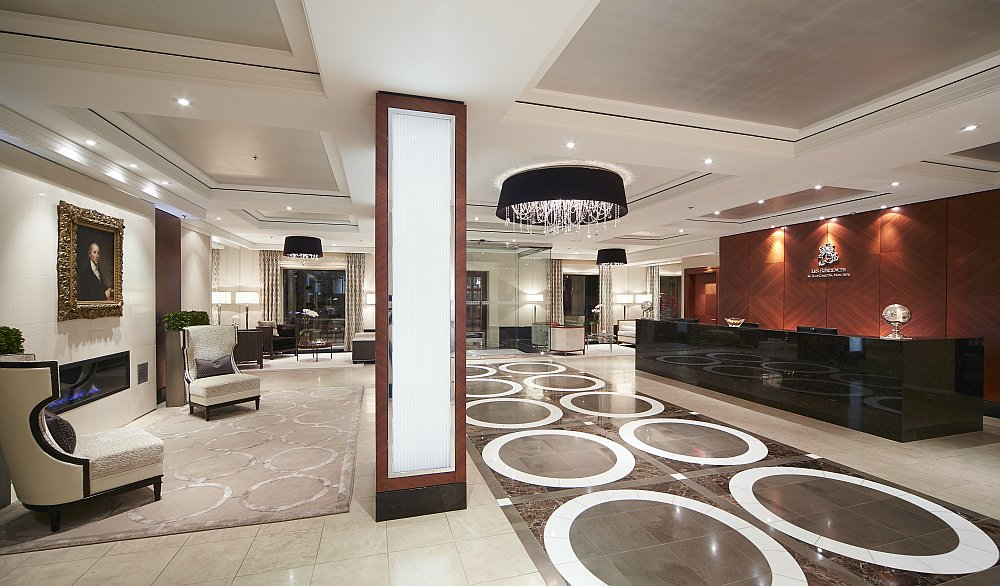 Private lobby leading to the extravagant condominiums of the Ritz-Carlton, Montreal