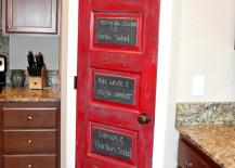 Red Chalkboard Pantry Door