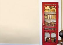 Red Screen Door as Pantry Door