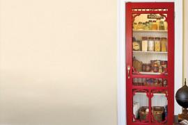 Red Screen Door as Pantry Door  8 Pretty Pantry Door Ideas That Showcase Your Storeroom as a Star Red Screen Door as Pantry Door 270x180