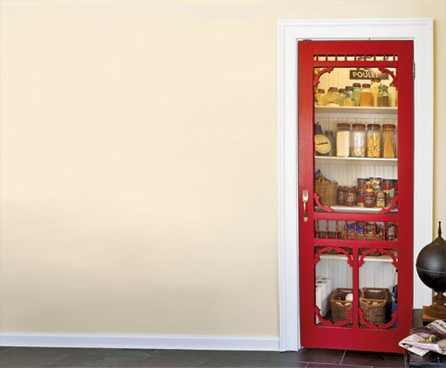 Red Screen Door as Pantry Door