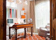 Rug, drapes and accessories allow you to switch between accents