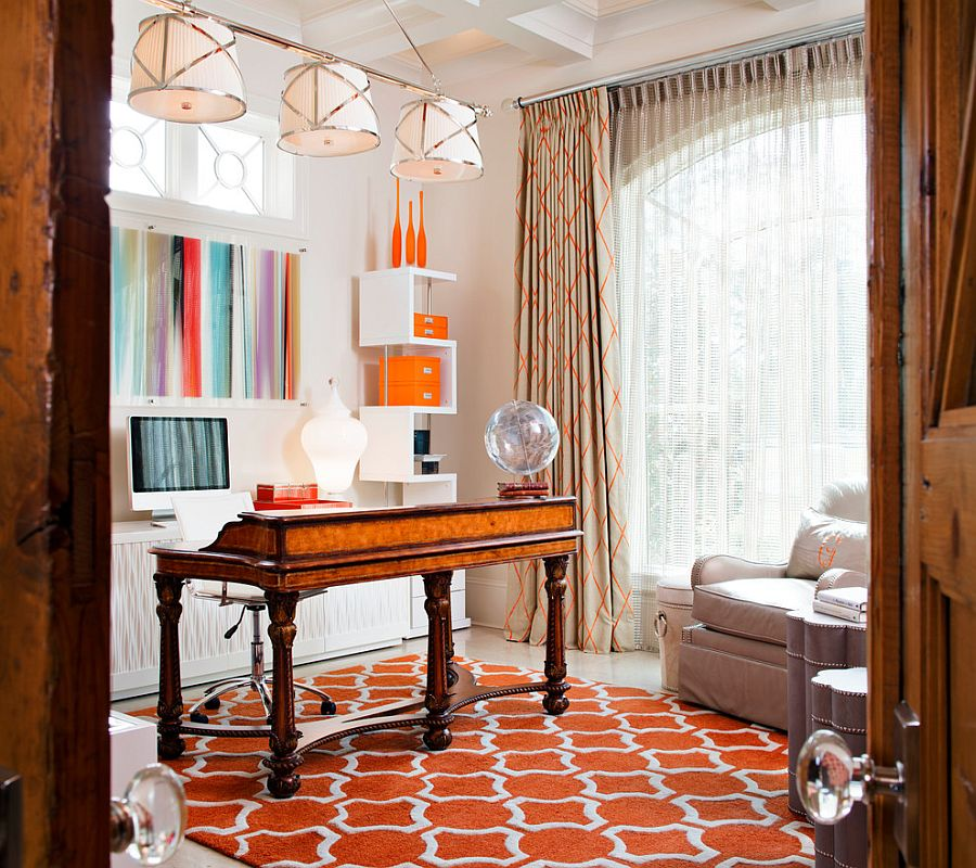 Rug, drapes and accessories allow you to switch between accents [Design: Karen Giffel Interior Design]
