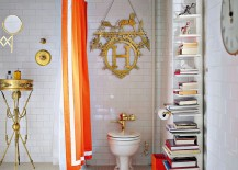 Sapien-Bookcase-adds-elegance-to-the-eclectic-bathroom-in-black-and-white-217x155
