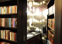 Secret bathroom hidden behind home library!