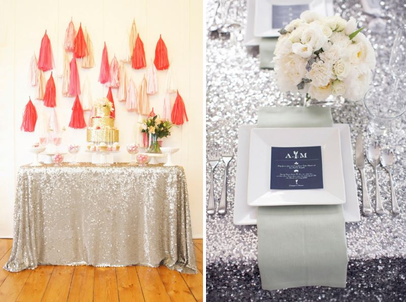 Sequined tablecloths from SparklePony