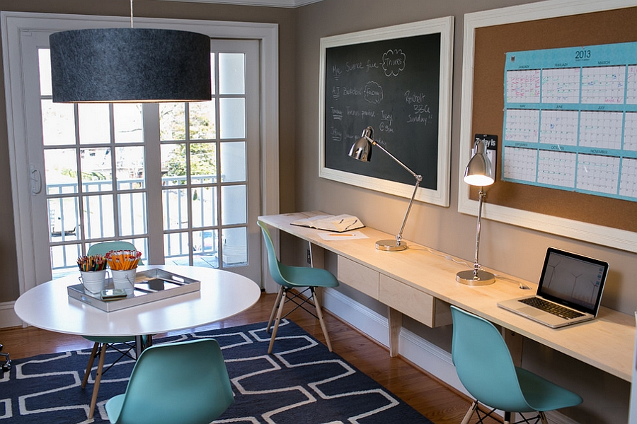 Share your home office with your partner in style! [Design: Residents Understood]