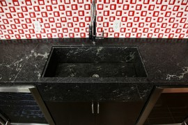 Shiny Granite Sink  Get Stoned: 11 Incredible Kitchen Sinks Made from Rock Shiny Granite Sink