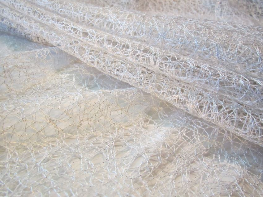 Silver polyester fabric from Avisa Fabrics