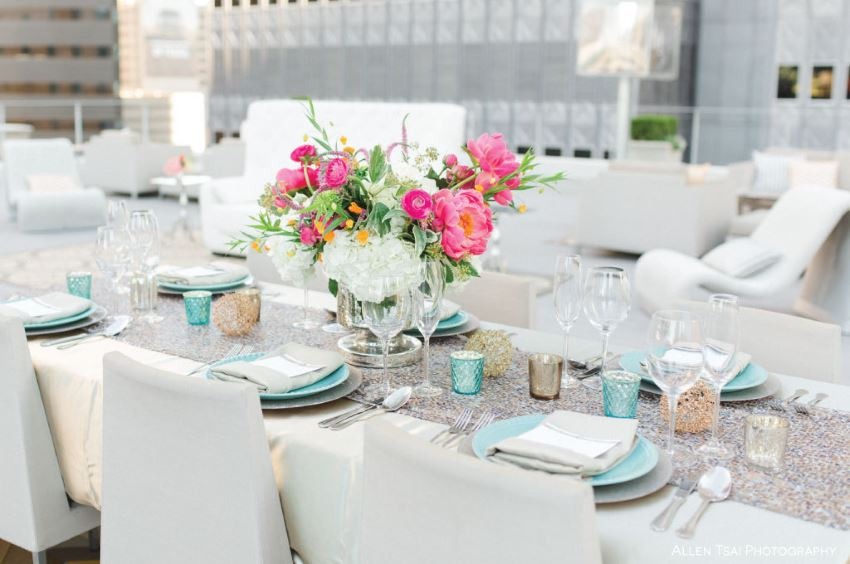 Make Your Next Party Shimmer With A Silver Tablecloth