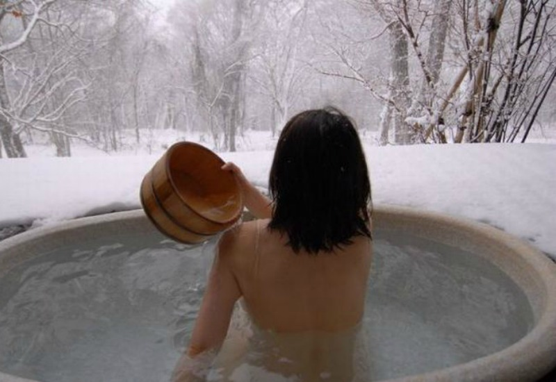 Simple Outdoor Hot Tub at Home