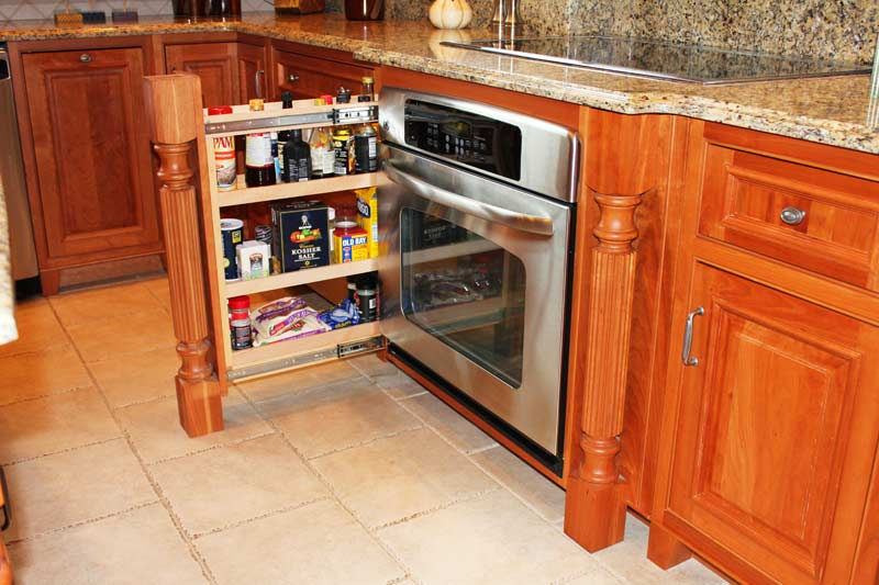 view in gallery slide out hidden kitchen compartment