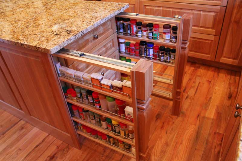 Slide Out Hidden Kitchen Compartments