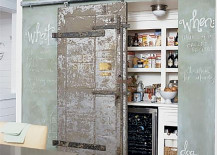 Sliding Pantry Door and Chalkboard Wall