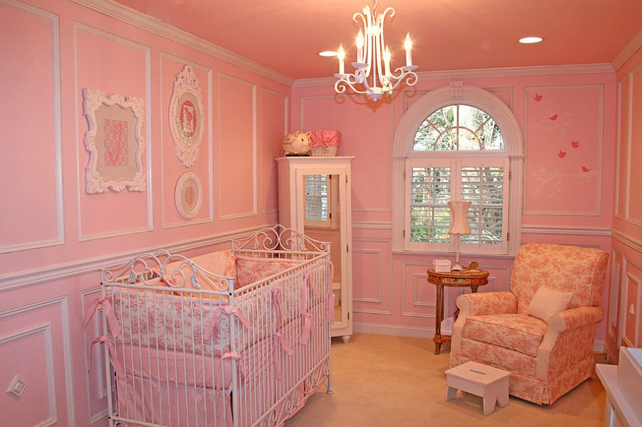 Small pink nursery design [Design: Jack and Jill Interiors]