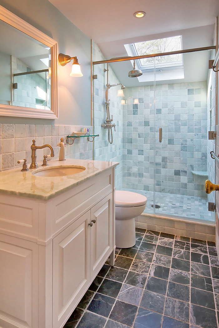 23 gorgeous bathrooms that unleash the radiance of skylights - How to layout a bathroom remodel ...