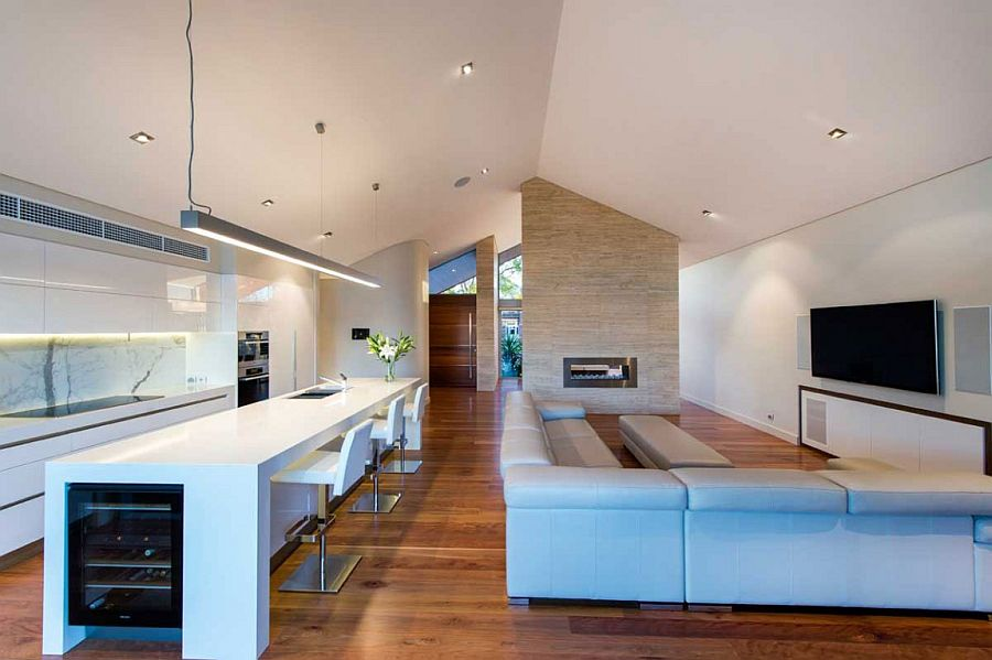 Smart design makes perfect use of the vaulted ceiling