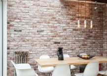 Smart-industrial-dining-room-of-London-home-with-skylights-217x155