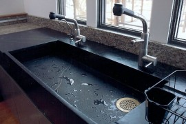 Soapstone Slab Sink  Get Stoned: 11 Incredible Kitchen Sinks Made from Rock Soapstone Slab Sink