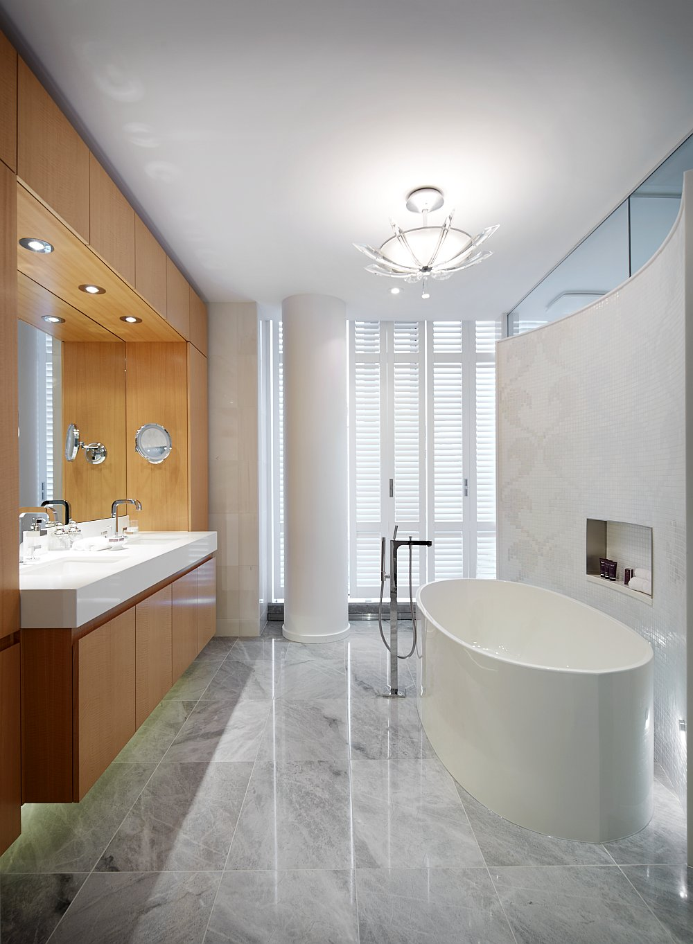 Spa-like bathroom of the condominium oozes opulence