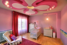 Stunning ceiling steals the show in this exquisite nursery