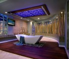 Stunning use of bamboo in the luxurious tropical style bathroom