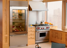 ... Up What Looks Like Another Cabinet To Reveal An Icebox Is Pretty Nifty.  If Youu0027re Thinking About Installing A Camouflaged Cooler In Your Kitchen,  ...