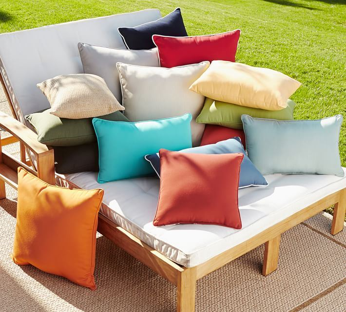 Sunbrella pillows from Pottery Barn