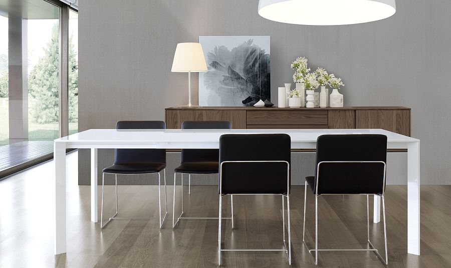 Super sleek dining table brings minimalism to your home