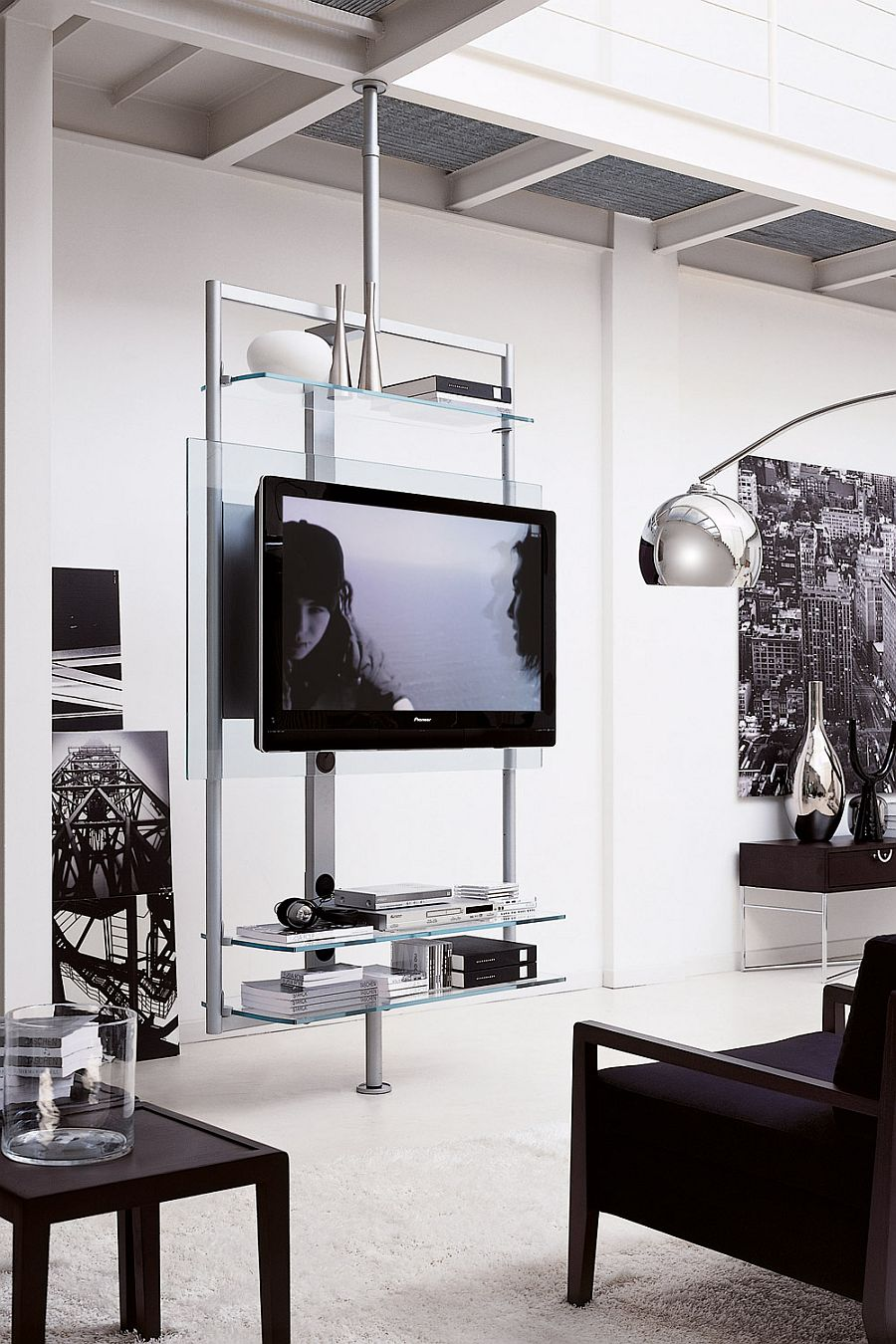 view in gallery tv stand that is perfect for small homes. contemporary tv stands that redefine the living room