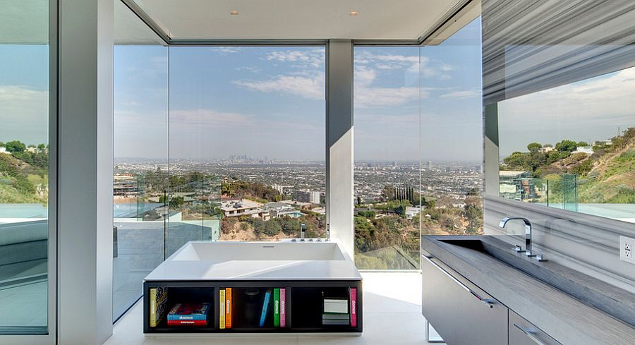 Take the view in as you flip through your favorite book [Design: McClean Design]