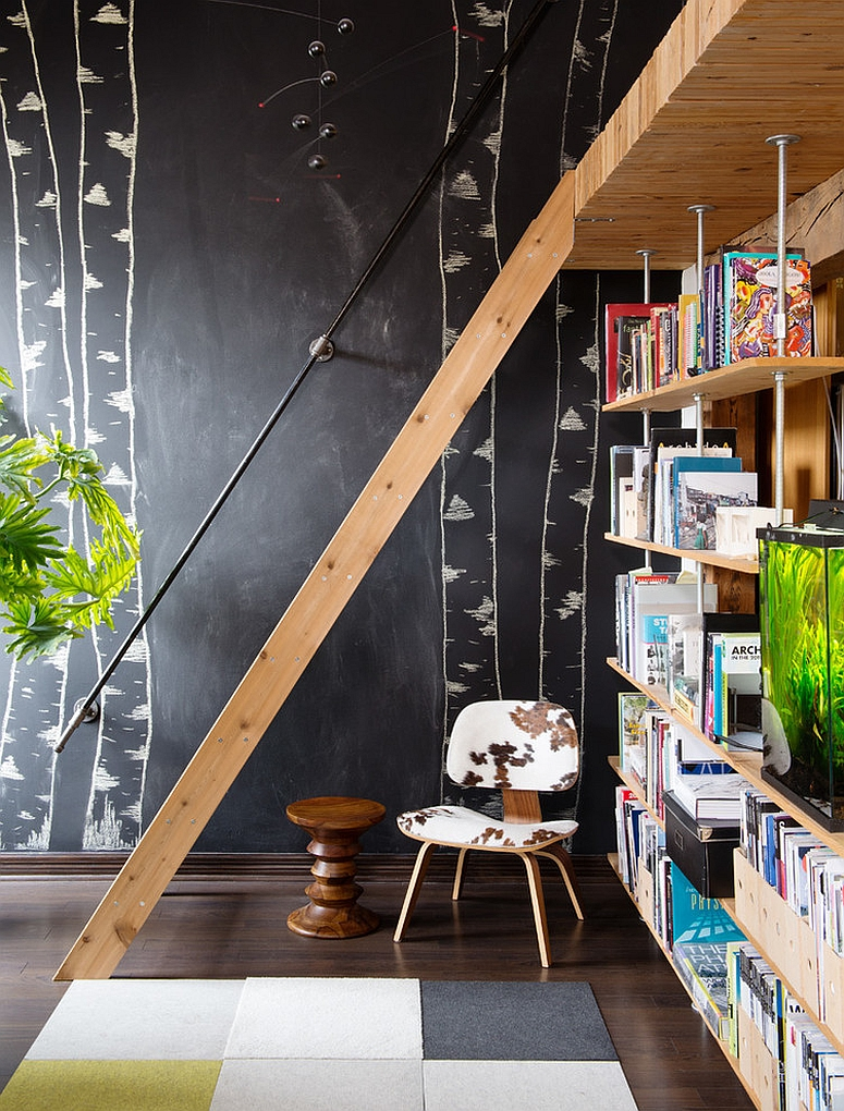 Turn the chalkboard wall into a work of art [Design: Pause Architecture + Interiors]