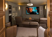 Turn the small basement into a cool home theater