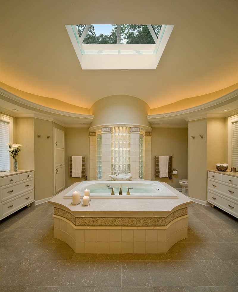 Unique bathtub steals the show in this bathroom [Design: Deep River Partners]