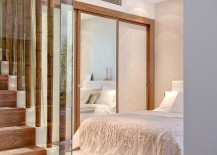 Unique way to add bamboo to the contemporary bedroom