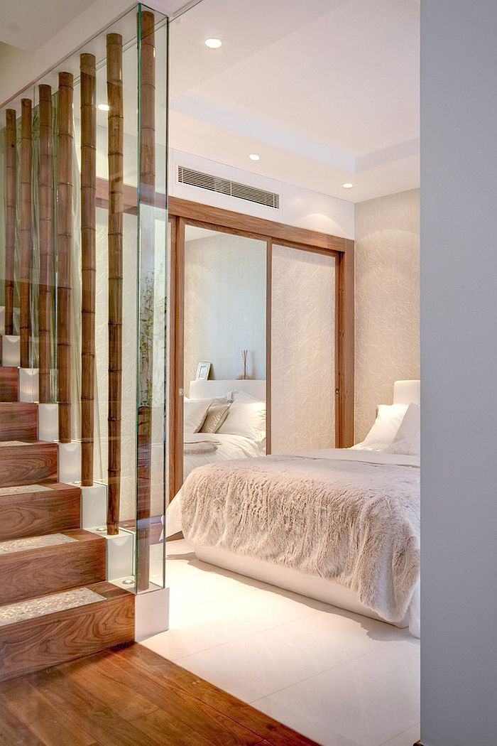 Unique way to add bamboo to the contemporary bedroom [Design: Interior Desires UK]