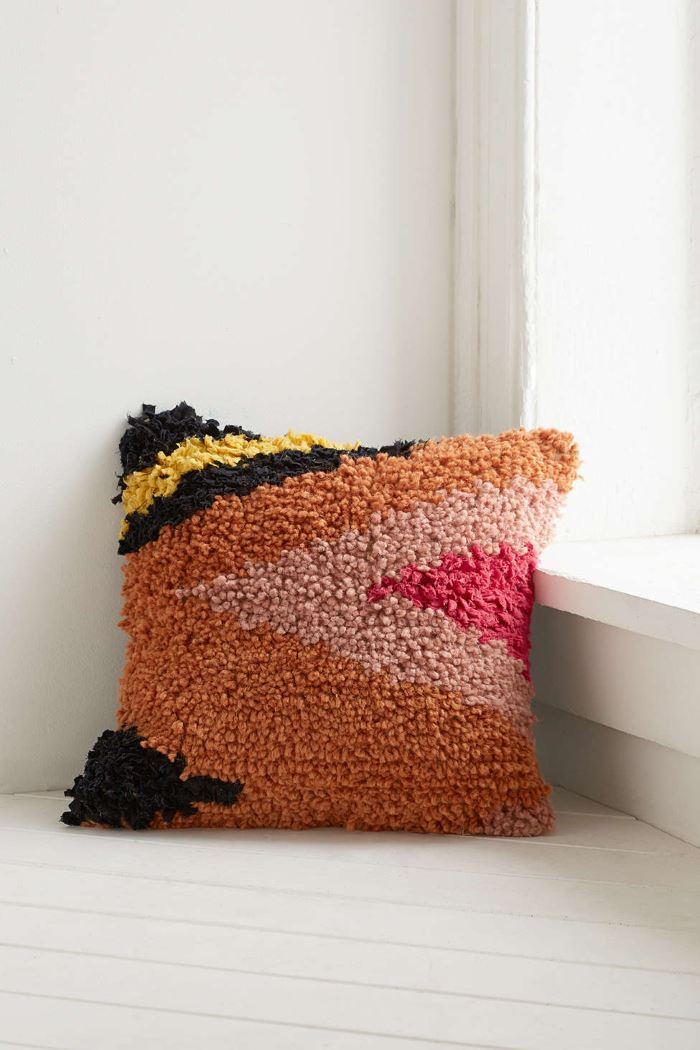 Vibrant wool pillow from Urban Outfitters