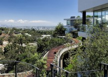 Walkway and landscape offer spectacular views of the city