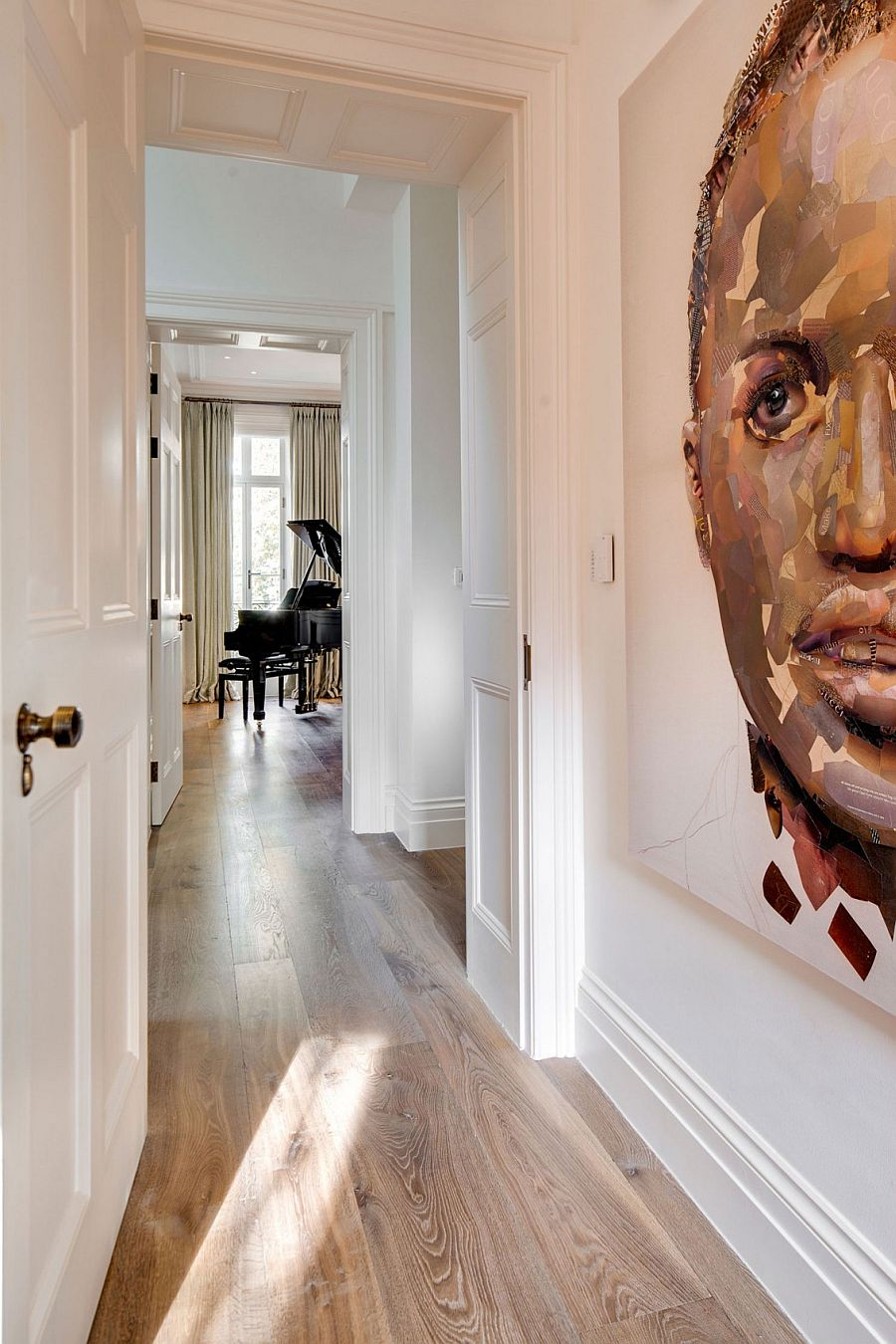 Wall art defines and shapes the revamp of the classic Georgian home