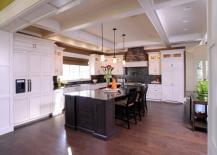 White Built-In Refrigerator in Kitchen
