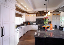White Mullet Cabinets Kitchen
